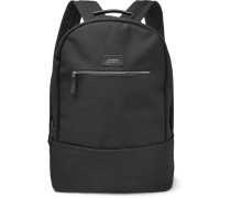 Hannes Cotton-canvas Backpack - Black