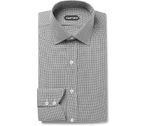 Slim-fit Woven Cotton-blend Shirt