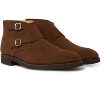Fry Full-Grain Leather Monk-Strap Boots