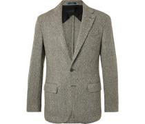 Morgan Slim-fit Unstructured Herringbone Wool-blend Blazer