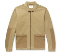 Overlay Panelled Cotton-Twill Chore Jacket