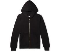 Jv Slim-fit Cotton-jersey Zip-up Hoodie - Black