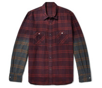 Dégradé Checked Cotton-flannel Shirt