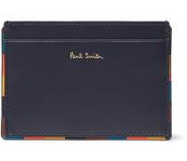 Leather Cardholder - Navy