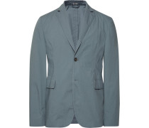 Grey Antibes Slim-fit Unstructured Stretch-cotton Suit Jacket