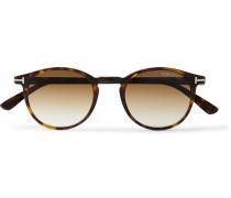 Round-frame Tortoiseshell Acetate Sunglasses