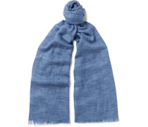 Brina Fringed Mélange Cashmere And Silk-blend Scarf
