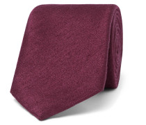 8cm Silk And Wool-blend Tie - Claret