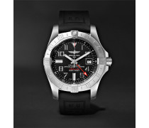 Avenger Ii Gmt Automatic 43mm Steel And Rubber Watch - Black