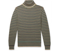 Striped Cotton Rollneck Sweater