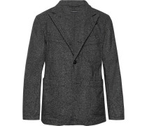 Grey Bedford Slim-fit Unstructured Wool-blend Tweed Blazer - Gray