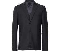 Midnight-blue Brobyn Wool And Mohair-blend Suit Jacket