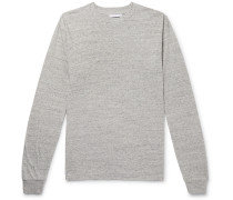 University Oversized Mélange Cotton-blend Jersey T-shirt - Gray