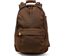 Suede-trimmed Cordura Backpack