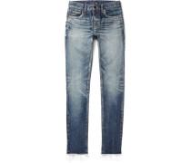 Skinny-fit 15cm Hem Denim Jeans