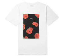 Floater Floral-print Cotton-jersey T-shirt - White