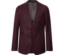 Burgundy Slim-fit Wool And Cashmere-blend Suit Jacket - Burgundy
