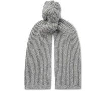 Ribbed Cashmere and Silk-Blend Scarf