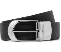 3.5cm Black Reversible Leather Belt