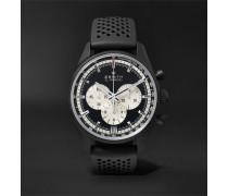 El Primero Chronomaster 45mm Ceramicised Aluminium And Rubber Watch - Black