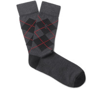 Argyle Stretch Wool-blend Socks