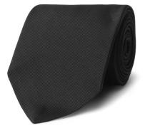 8cm Embroidered Silk-blend Twill Tie