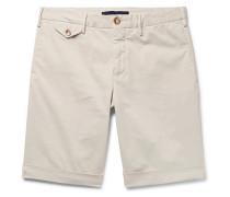Slim-Fit Stretch-Cotton Gabardine Shorts
