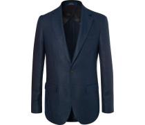 Navy Morgan Slim-fit Unstructured Linen Blazer