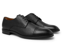 Coventry Textured-leather Derby Shoes - Black