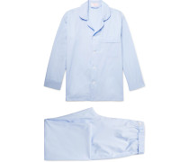 Cotton-Poplin Pyjama Set