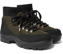 Clement Suede-trimmed Shell Hiking Boots - Black