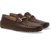 Full-grain Leather Driving Shoes - Brown