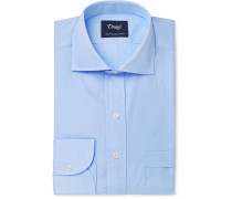 Light-Blue Cutaway-Collar End-on-End Cotton Shirt