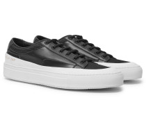 Achilles Super Mesh-trimmed Leather Sneakers - Black