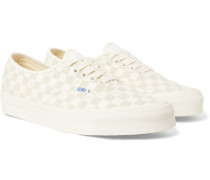 Og Authentic Lx Suede-trimmed Checkerboard Canvas Sneakers
