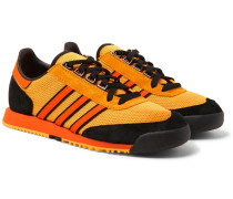 Spezial Sl80 A Suede And Leather-trimmed Mesh Sneakers - Saffron