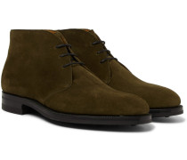 Banbury Suede Desert Boots - Army green