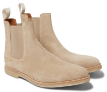 Suede Chelsea Boots - Sand