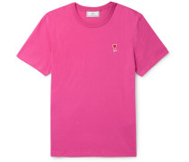 Slim-Fit Logo-Appliquéd Cotton-Jersey T-Shirt