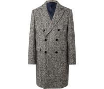 Roger Double-Breasted Herringbone Virgin Wool-Blend Coat
