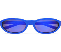 Oval-Frame Acetate Sunglasses