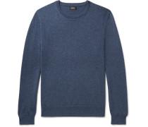 Mélange Cashmere Sweater - Storm blue