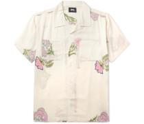 Hana Camp-collar Printed Voile Shirt - Off-white