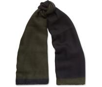 Herringbone Cashmere And Silk-blend Scarf