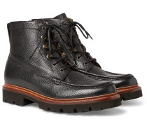 Rocco Pebble-Grain Leather Boots