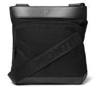 Nightflight Leather-trimmed Nylon Messenger Bag