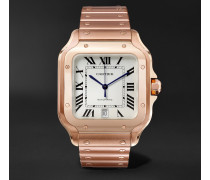 Santos Automatic 39.8mm 18-karat Pink Gold Interchangeable Alligator Watch