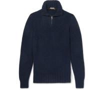 Baby Cashmere Half-zip Sweater - Navy