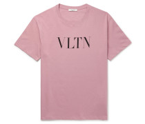 Logo-print Cotton-jersey T-shirt - Pink