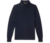 Slim-fit Baby Cashmere Polo Shirt - Midnight blue